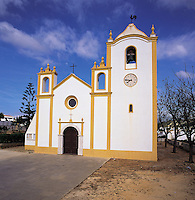 Quaint and pretty traditional Portuguese church in Luz, Algarve, Portuga