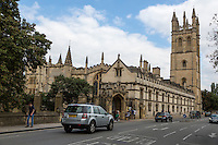 UK, England, Oxford.  Magdalen College and Tower.
