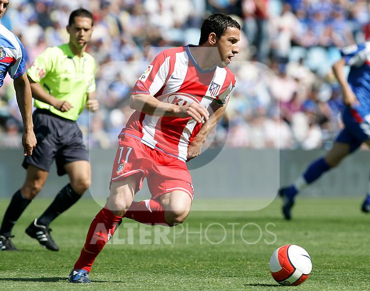 Atletico de Madrid's Maxi Rodriguez during La Liga match. April 27 2008. (ALTERPHOTOS/Acero).