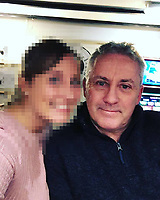 Pictured:  Dave Ibbotson (R) with woman believed to be his daughter Vicki, from Crowle, north Lincolnshire, who was the pilot of the Piper Malibu carrying footballer Emiliano Sala from Nantes to Cardiff.<br /> Re: Premier League footballer Emiliano Sala was on a flight which disappeared between France and Cardiff.<br /> The Argentine striker was one of two people on board the Piper Malibu, which disappeared off Alderney on Monday night.<br /> Cardiff City FC, signed the 28-year-old from French club Nantes.