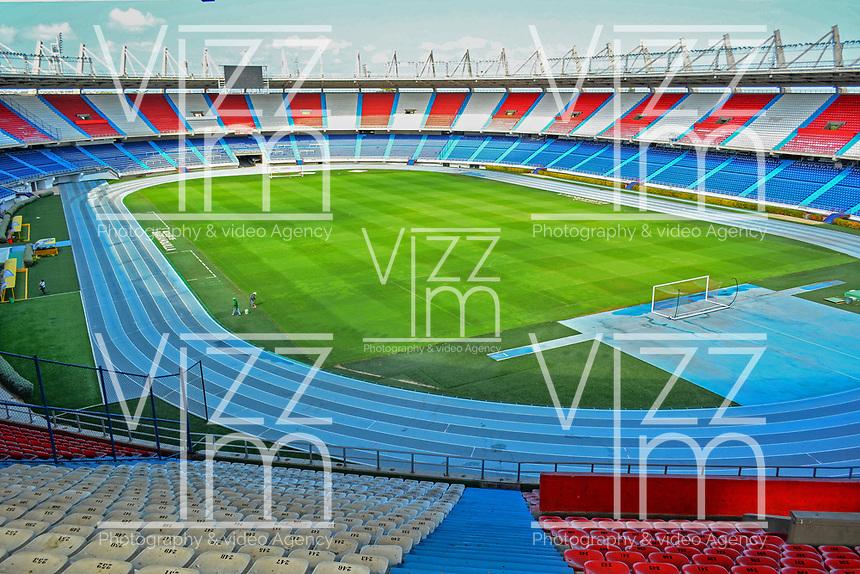 BARRANQUILLA - COLOMBIA: Aspectos del Estadio Metropolitano Roberto Meléndez es un escenario para la práctica del fútbol y el atletismo de Barranquilla, Colombia. Tienen una capacidad para 49.612 espectadores y fue inaugurado el 11 de mayo de 1986. / Metropolitano Roberto Melendez stadium, commonly known as Estadio Metropolitano, or colloquially, El Metro, is a multi-use all-seater football stadium in Barranquilla, Colombia. It is the home stadium of local football team Atlético Junior. It was built with a capacity of 49,612 for the Colombian World Cup bid in 1986. Photo: VizzorImage / Alfonso Cervantes / Cont