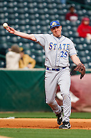 Jesse Sawyer (25):March 9th, 2010; South Dakata State University vs Arkansas Razorbacks at Baum Stadium in Fayetteville Arkansas. Photo by: William Purnell/Four Seam Images