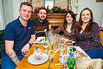 Sean Walsh, Darren and Karen Young and Nicola Walsh enjoying the evening in Bella Bia on Saturday.