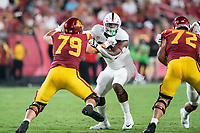 LOS ANGELES, CA - SEPTEMBER 11: Ryan Johnson during a game between University of Southern California and Stanford Football at Los Angeles Memorial Coliseum on September 11, 2021 in Los Angeles, California.
