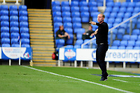 Steve Cooper Head Coach of Swansea City shouts instructions to his team from the dug-out during the Sky Bet Championship match between Reading and Swansea City at the Madejski Stadium in Reading, England, UK. Wednesday 22 July 2020.