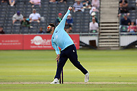 Aron Nijjar in bowling action for Essex during Gloucestershire vs Essex Eagles, Royal London One-Day Cup Cricket at the Bristol County Ground on 3rd August 2021