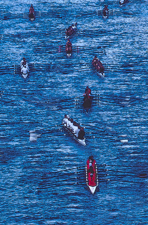 Rowers, Seattle, Windermere Cup Regatta, post race row, Lake Washington Ship Canal, Opening day of the competitive rowing season,.