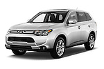 2014 Mitsubishi Outlander Instyle 5 Door SUV angular front stock photos of front three quarter view
