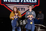 Callahan Taylor, Caleb Carpenter, during the Team Roping Back Number Presentation at the Junior World Finals. Photo by Andy Watson. Written permission must be obtained to use this photo in any manner.