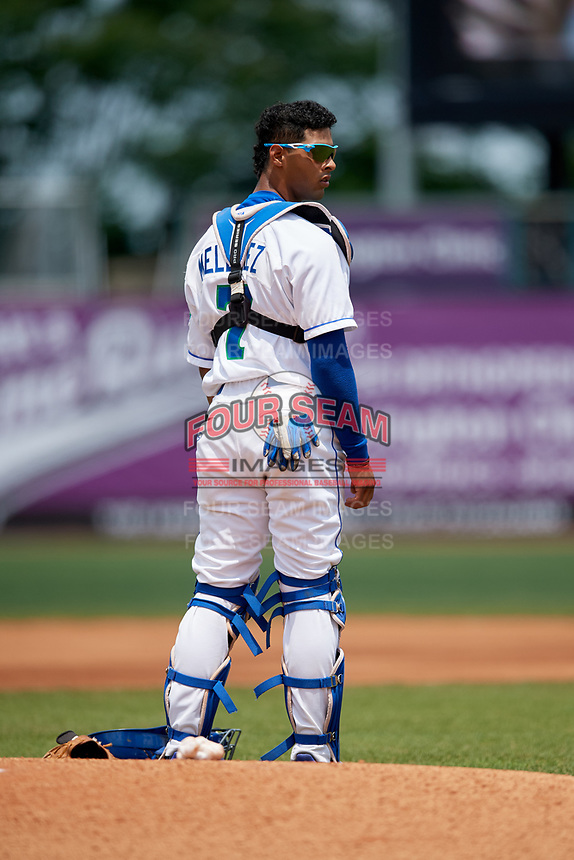 Lexington Legends catcher MJ Melendez (7) prior to a game against the Rome Braves on May 23, 2018 at Whitaker Bank Ballpark in Lexington, Kentucky.  Rome defeated Lexington 4-1.  (Mike Janes/Four Seam Images)