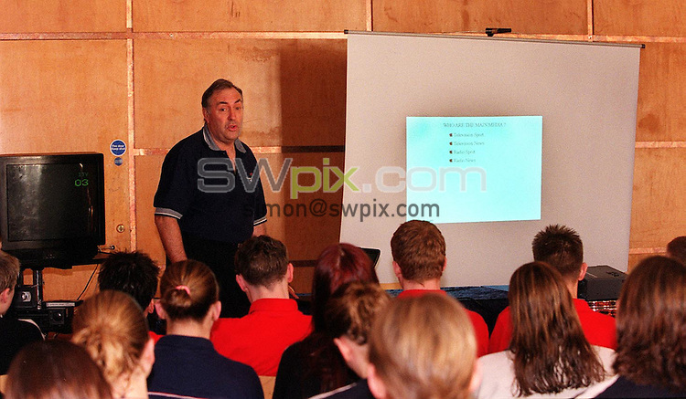 Pix: Matthew Lewis/SWpix.com. Swimming. World Class Potential Training Camp. Ponds Forge, Sheffield.  18/02/2002...COPYWRIGHT PICTURE>>SIMON WILKINSON>>01943 436649>>..BBC's Stuart Storey gives a Media seminar to the swimmers.
