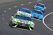 2017 Monster Energy NASCAR Cup Series<br /> O'Reilly Auto Parts 500<br /> Texas Motor Speedway, Fort Worth, TX USA<br /> Sunday 9 April 2017<br /> Kyle Busch, Interstate Batteries Toyota Camry and Ty Dillon<br /> World Copyright: Russell LaBounty/LAT Images<br /> ref: Digital Image 17TEX1rl_4446