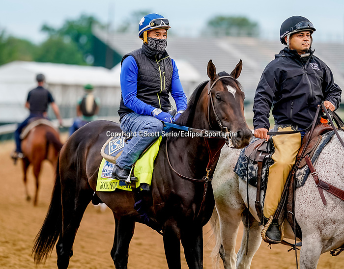 April 28, 2021: Rock Your World, trained by trainer John Sadler, exercises in preparation for the Kentucky Derby at Churchill Downs on April 28, 2021 in Louisville, Kentucky. Scott Serio/Eclipse Sportswire/CSM