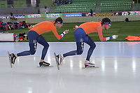SPEEDSKATING: HAMAR: Vikingskipet, 28-02-2020, ISU World Speed Skating Championships, Sven Kramer (NED), Patrick Roest (NED), ©photo Martin de Jong