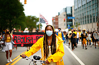 'Civil Saturday' protests march through the Shadyside neighborhood into Oakland past the campuses of Carnegie Mellon University and the University of Pittsburgh on Saturday August 15, 2020 in Pittsburgh, Pennsylvania.  (Photo by Jared Wickerham/Pittsburgh City Paper)