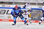 Justin Feser (Nr.71 - ERC Ingolstadt) und Lukas Reichel (Nr.44 - Eisbären Berlin) beim Spiel im Halbfinale der DEL, ERC Ingolstadt (dunkel) - Eisbaeren Berlin (hell).<br /> <br /> Foto © PIX-Sportfotos *** Foto ist honorarpflichtig! *** Auf Anfrage in hoeherer Qualitaet/Aufloesung. Belegexemplar erbeten. Veroeffentlichung ausschliesslich fuer journalistisch-publizistische Zwecke. For editorial use only.