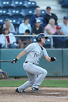 Sean Dwyer #29 of the Tri-City Dust Devils bats against the Everett AquaSox at Everett Memorial Stadium on July 29, 2014 in Everett, Washington. Everett defeated Tri-City, 7-5. (Larry Goren/Four Seam Images)