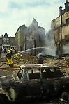 Brixton Riots. South London Uk April 1981. Burnt out destroyed building.