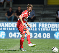 20150627 - Lauwe , BELGIUM : Kortrijk's Lukas Van Eenoo pictured during a friendly match between Belgian first division team KV Kortrijk and Belgian third division soccer team FC Izegem , during the preparations for the 2015-2016 season, Saturday 27th June 2015 in Lauwe. PHOTO DAVID CATRY