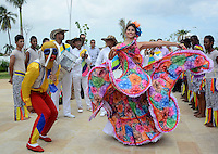 BARRANQUILLA -COLOMBIA-7-NOVIEMBRE-2014.La Alcaldesa  de Barranquilla,Elsa Noguera hizo entrega del decreto a la soberana de las carnestolendas del 2015 Cristina Felfle, en acto cumplido en la recién remodelada Intendencia Fluvial. / The Mayor of Barranquilla , Elsa Noguera presented the sovereign decree of 2015 Cristina Felfle carnival in act performed in the newly renovated Intendencia Fluvial.  Photo: VizzorImage / Alfonso Cervantes / Stringer