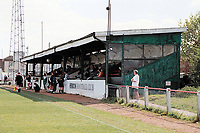 The main stand at Hendon FC Football Ground, Claremont Road, Cricklewood, London, pictured on 13th April 1997