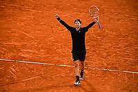 joie de Dominic Thiem (Aut)<br /> Parigi 04/10/2020 Roland Garros <br /> Tennis Grande Slam 2020<br /> French Open <br /> Photo JB Autissier / Panoramic / Insidefoto <br /> ITALY ONLY