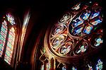 Spain, Catedral del Buen Pastor, window detail, San Sebastian, Pais Vasco, Spain.