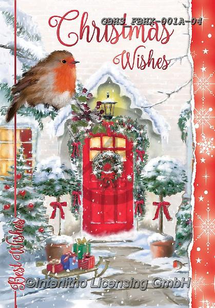 John, CHRISTMAS LANDSCAPES, WEIHNACHTEN WINTERLANDSCHAFTEN, NAVIDAD PAISAJES DE INVIERNO, paintings+++++,GBHSFBHX-001A-04,#xl# , red robin,