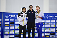 SPEEDSKATING: SALT LAKE CITY: Utah Olympic Oval, 10-03-2019, ISU World Cup Finals, Podium World Cup 500m Ladies, Nao Kodaira (JPN), Vanessa Herzog (AUT), Olga Fatkulina (RUS), ©Martin de Jong