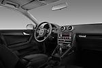 Straight dashboard view of a 2003 - 2012 Audi A3 Premium Sportback Hatchback.