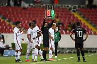 GUADALAJARA, MEXICO - MARCH 24: Jesus Ferreira #9 of the United States and teammate Andres Perea #15 during a game between Mexico and USMNT U-23 at Estadio Jalisco on March 24, 2021 in Guadalajara, Mexico.