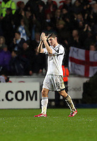 Wednesday, 01 January 2014<br /> Pictured: Ben Davies.<br /> Re: Barclay's Premier League, Swansea City FC v Manchester City at the Liberty Stadium, south Wales.