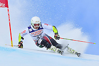 February 17, 2017: Albert POPOV (BUL) competing in the men's giant slalom event at the FIS Alpine World Ski Championships at St Moritz, Switzerland. Photo Sydney Low