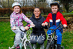 Enjoying the Tralee town park on Monday, l to r: Addison, Elliott and Antoinette Maunsell.