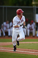 Ball State Cardinals outfielder Scott Tyler (7) during a game against the Maine Black Bears on March 3, 2015 at North Charlotte Regional Park in Port Charlotte, Florida.  Ball State defeated Maine 8-7.  (Mike Janes/Four Seam Images)