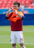 29 June 2013: Real Salt Lake midfielder Sebastian Velasquez #26 in action during the warm-up in an MLS game between Real Salt Lake and Toronto FC at BMO Field in Toronto, Ontario Canada.<br /> Real Salt Lake won 1-0.