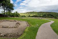 Northumberland,  England, UK.  Entrance to Vindolanda Roman Fort Excavation Site.