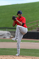Cedar Rapids Kernels relief pitcher Steven Cruz (40) on the mound during a game against the Wisconsin Timber Rattlers on September 8, 2021 at Neuroscience Group Field at Fox Cities Stadium in Grand Chute, Wisconsin.  (Brad Krause/Four Seam Images)