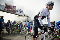 Fabian Cancellara (SUI/TREK Factory Racing) at the start<br /> <br /> 58th E3 Harelbeke 2015