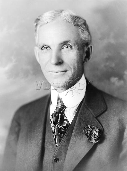 Henry Ford, 30. Juli 1863 in Wayne County, Michigan, USA – 7. April 1947 in Dearborn, Michigan, gründete Automobilhersteller Ford Motor Company, perfektionierte die Fließbandtechnik im Automobilbau, Konzept der modernen Fertigung von Fahrzeugen, industrielle Produktion, Fordismus
