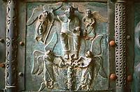 Verona:  Basilica San Zeno--Bronze doors, XI, XII centuries.  Photo '83.