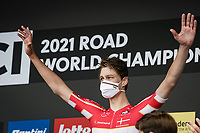 Johan Price-Pejtersen (DEN/Uno-X) crowned himself the newest U23 Mens Time Trial World Champion<br /> <br /> World Championships U23 Men - ITT <br /> Time Trial from Knokke-Heist to Bruges (30.3km)<br /> <br /> UCI Road World Championships - Flanders Belgium 2021<br /> <br /> ©kramon