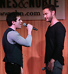 Jarrod Spector and Matthew Hydzik during 'The Cher Show' Original Broadway Cast Recording performance and CD signing at Barnes & Noble Upper East Side on May 14, 2019 in New York City.