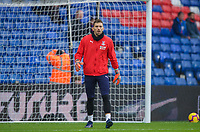 Goalkeeper Vicente Guaita of Crystal Palace pre match during the Premier League match between Crystal Palace and Chelsea at Selhurst Park, London, England on 30 December 2018. Photo by Andrew Aleks.<br /> .<br /> (Photograph May Only Be Used For Newspaper And/Or Magazine Editorial Purposes. www.football-dataco.com)
