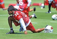 May 19, 2009; Tempe, AZ, USA; Arizona Cardinals cornerback Greg Toler during organized team activities at the Cardinals practice facility. Mandatory Credit: Mark J. Rebilas-