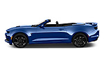 Car Driver side profile view of a 2020 Chevrolet Camaro 1SS 2 Door Convertible Side View