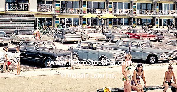 Attache Motel in Wildwood, New Jersey. 1960's retro photographs.