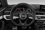 Car pictures of steering wheel view of a 2018 Audi S5 Premium Plus 2 Door Coupe