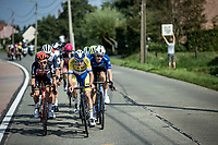 riders trying to force a break away<br /> <br /> Heistse Pijl 2020<br /> One Day Race: Heist-op-den-Berg > Heist-op-den-Berg 190km  (UCI 1.1)<br /> ©kramon