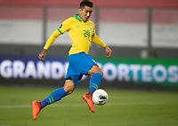 13th October 2020; National Stadium of Peru, Lima, Peru; FIFA World Cup 2022 qualifying; Peru versus Brazil;  Roberto Firmino of Brazil